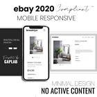 Professional eBay Listing Template Responsive Minimal Design 2020 Brooklyn