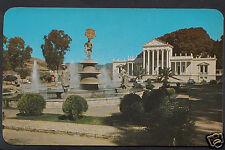 Mexico Postcard - Fountain of Oaxaca's 7 Regions & The Medical School  A9704