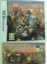 DS NDS DSi Lite xl jeu Lego Indiana Jones 2 II indien jeu d'aventure allemand