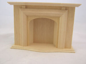 Jamestown Fireplace wooden dollhouse furniture #2403 1/12 scale miniature