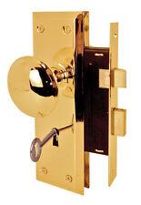 Prime-Line Bright Brass Steel Mortise Lockset Grade 1 1-3/4 in