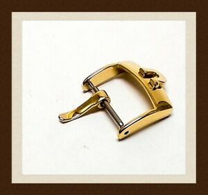 Omega16mm gold plated watch strap buckle