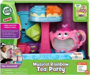 NIB Leap Frog Musical Rainbow Tea Party With Cake Stand Play Set