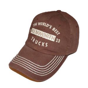 kenworth base ball cap KW semi diesel trucker hat gear truck w900 casual cat new