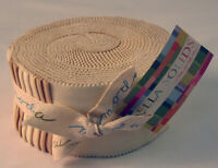 Moda Fabric Bella Solids Jelly Roll Neutral - Patchwork Quilting 2.5 Inch Strips