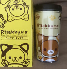 "NIB 2015 SANX Rilakkuma Small Travel Insulated Mug 5.5"" Japan Lawson Promotional"