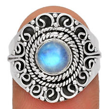 Moonstone 925 Sterling Silver Ring Jewelry s.8 AR161770 124J