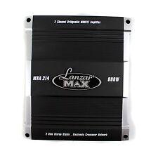 Lanzar 800 Watt Max 2 Channel Car Audio MOSFET Power Bridgeable Sub Amplifier