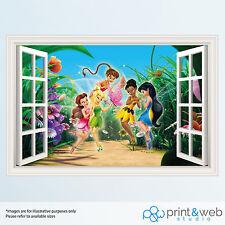 Tinkerbell and Friends Window View Decal Wall Sticker Home Decor Art Mural Kids