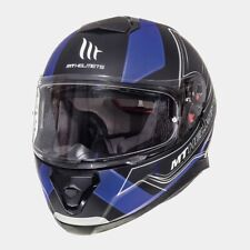 MT Thunder 3 SV Trace Full Face Motorcycle Motorbike Helmet - Matt Black/Blue