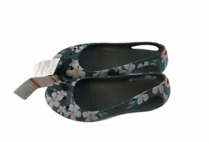Crocs Kadee Floral Graphic Slip On Flats Sandals 205633 Womens Size 6