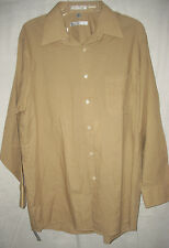 NWT ~ GEOFFREY BEENE MENS LS Dress Shirt - IMPORTED NO IRON! 16 1/2 GIFT L / XL
