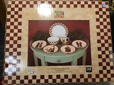 FOLK ART SANTA ZAK DESIGN  by DEBBIE MUMM CHRISTMAS 16 PIECE DINNER SET  NIB