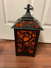 18 INCH HALLOWEEN LED LANTERN FLICKERING LED CANDLE TIMER INDOOR/OUTDOOR USE