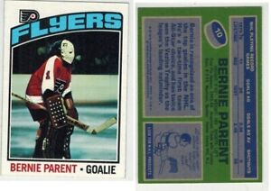 1976-77 TOPPS HOCKEY BERNIE PARENT CARD #10 COMBINED SHIPPING