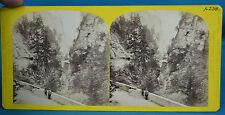 1860s Suisse Stereoview Pont Du Milieu Dans La Via Mala Alpine Club W England NR