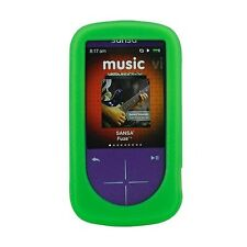NEW Green Silicone Skin for SanDisk Sansa Fuze Plus+ Case MP3 Fuse+ Cover Holder