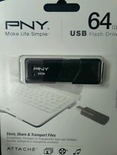 PNY Attache 64GB Flash Drive - USB 2.0  P-FD64GATT03-GE. NEW