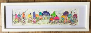 Original watercolour painting of a Fairy Village