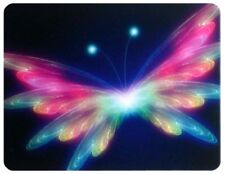 Multi colour light butterfly Anti-Slip Mousepad Computer Laptop Mouse Mat