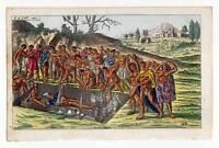 Bestattung-Totenkult-Indianer - Kupferstich 1800 G. T. Wilhelm Südamerika