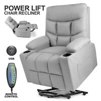 Full Automatic Electric Power Lift Recline Massage Chair Zero Gravity Heat Wheel