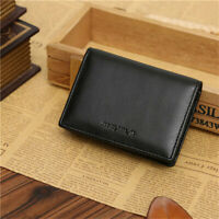 Men's Leather Bifold Wallet Credit ID Card Holder Mini Purse Slim Money Clip