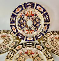 """Set Of 4 Royal Crown Derby Traditional Imari 6.25"""" Bread & Butter Plates"""