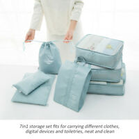 7Pcs/Set Travel Storage Bag for Clothes Luggage Packing Cube Organizer Suitcase