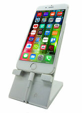 SOLID METAL DESKTOP IPHONE SAMSUNG HTC STAND SILVER SMARTPHONE ANDROID IPAD