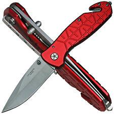 Herbertz Taschenmesser Rettungsmesser Rescue Knife Leichtmetall rot Gürtelclip