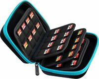 64 Game Card Storage Holder Hard Case for Nintendo Switch or PS Vita - Blue/Blac
