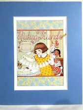 """New listing Mary Enge 00006000 lbreit Matted Calendar Print 8"""" X 10"""" Making Friends #114"""
