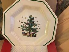 4 Nikko Christmastime Salad Plates New in box