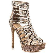 Jessica Simpson Cheyne Cage Platform Snake print sandal Bootie sz 10 new