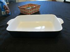 """FONTIGNAC small baking dish approx. 10""""x7""""x 2.25""""  deep blue Pre-owned but excel"""