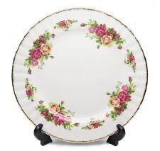 """Royalty Porcelain Set of 6 """"Vintage Floral"""" Salad Plates, 24K Gold"""