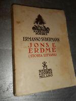 LIBRO: JONSE ERDME - STORIA LITUANA - ERMANNO SVDERMANN -SPERLING & KUPFER 1939
