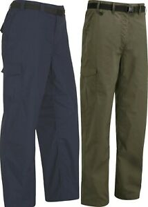 WOMENS WALKING TROUSER HIKING WATER RESISTANT CARGO NAVY BROWN BELT INCL D-RING