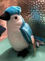 """Ty """"Rocket"""" Retired Beanie Baby With VERY RARE Errors Blue Jay COLLECTABLE NEW!"""