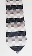 VG Valerio Garati Hand Made Pure Silk Men's Gray & Navy Neck Tie FREE Shipping!