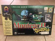 Turtle Beach Montego II Quadzilla Aureal Vortex 2 Sound Card - New & Rare!