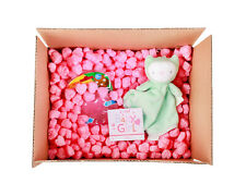 Funpak Packing Peanuts Pink Heart Shape 15 Cu Ft Bag Compostable Biodegradable