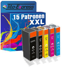 15x xxl proserie pour Canon pixma mg5450 ip7250 mg6350 mx725 pgi-550xl cli-551xl