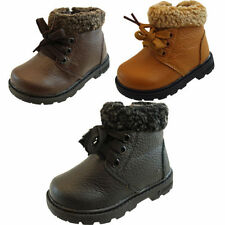 Unbranded Faux Leather Boots Shoes for Boys with Laces