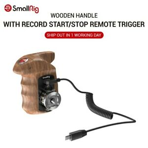 Right Wooden Hand Grip with Record Start/Stop Remote Trigger for Sony HSR2511