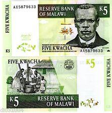 MALAWI Billet 5 KWACHA 2004 P36 Chilembwe NEUF UNC