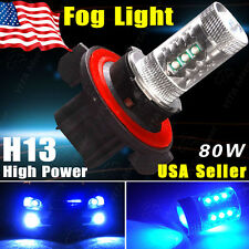 1x Ultra Blue High Power 80W H13 9008 LED Fog Driving DRL Light