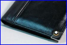 Elegant Black MONTBLANC Urban Spirit Wallet 8cc with writingblock soft leather