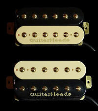 Guitar Pickups - GUITARHEADS GOLD RUSH HUMBUCKER - Bridge Neck SET 2 - ZEBRA
